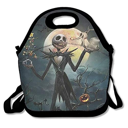 YHHCZX Trendy Jack Skellington Xmas Lunch Bag Reusable Insulated Thermal Handbags Tote Bags for Adults,Kids,Nurse Teacher Work Outdoor Travel Picnic
