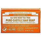 Dr. Bronner's Organic Pure Castile Tea Tree Soap, 5 oz - 2 Bars