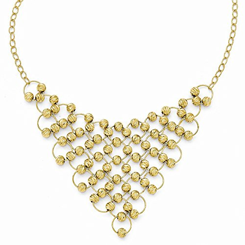 Leslies 14k Dia-Cut Beaded Fancy - Necklace Fancy Dia