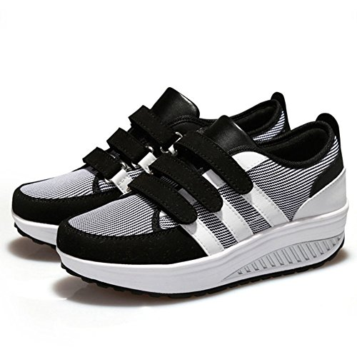 Cybling Kil Motion Athletic Löparskor För Kvinnor Komfort Resor Utomhus Plattform Sneaker Svart