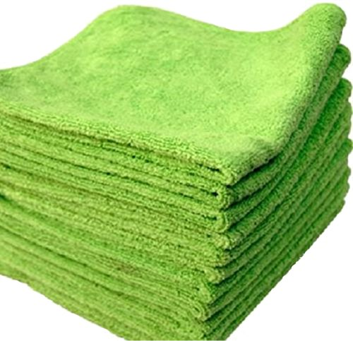 20 PACK NEW MICROFIBER TOWELS CLEANING TOWEL GREEN 16