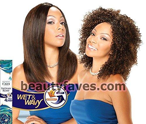 Moisture Remy Rain Indian Hair Weave - JERRY CURL 4 PCS (Wet & Wavy) (1 - JET - Remy Indian Weave