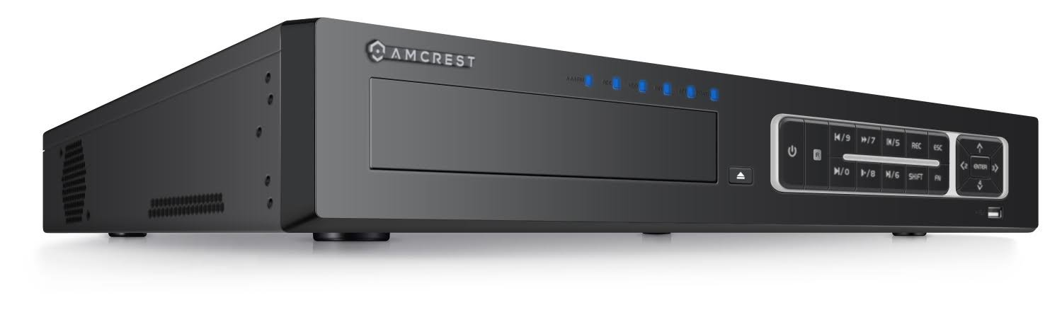Amcrest NV4432E 32 Chanel (16-Channel PoE) Network Video Recorder - Supports 5-Megapixels @ 30fps Realtime, ONVIF Compliance, USB Backup, Supports up to 24TB HDD (Not Included) and More