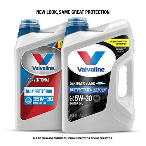 Valvoline  Daily Protection SAE 5W-30 Conventional Blend Motor Oil 5 QT ( Package may vary )