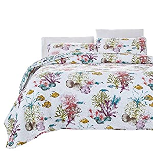 51wphYfnFRL._SS300_ Seashell Bedding Sets & Comforters & Quilts