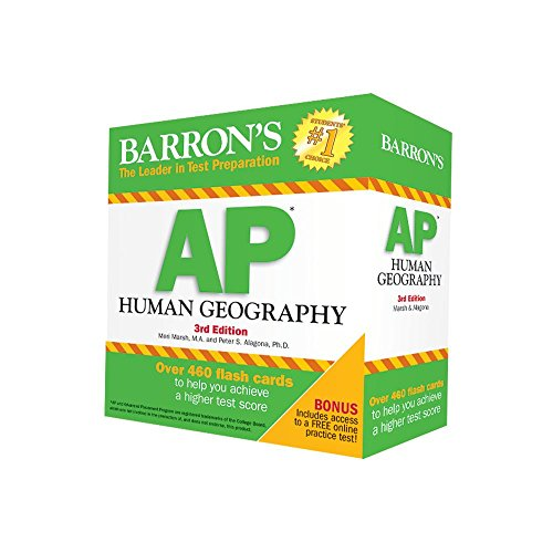 Barron's AP Human Geography Flash Cards, 3rd Edition