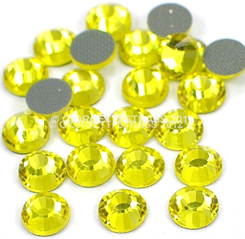 STRASS MC stone collection 100pz SS20 5mm Citrine giallo hotfix termoadesivi dmc Giorgetti Strass