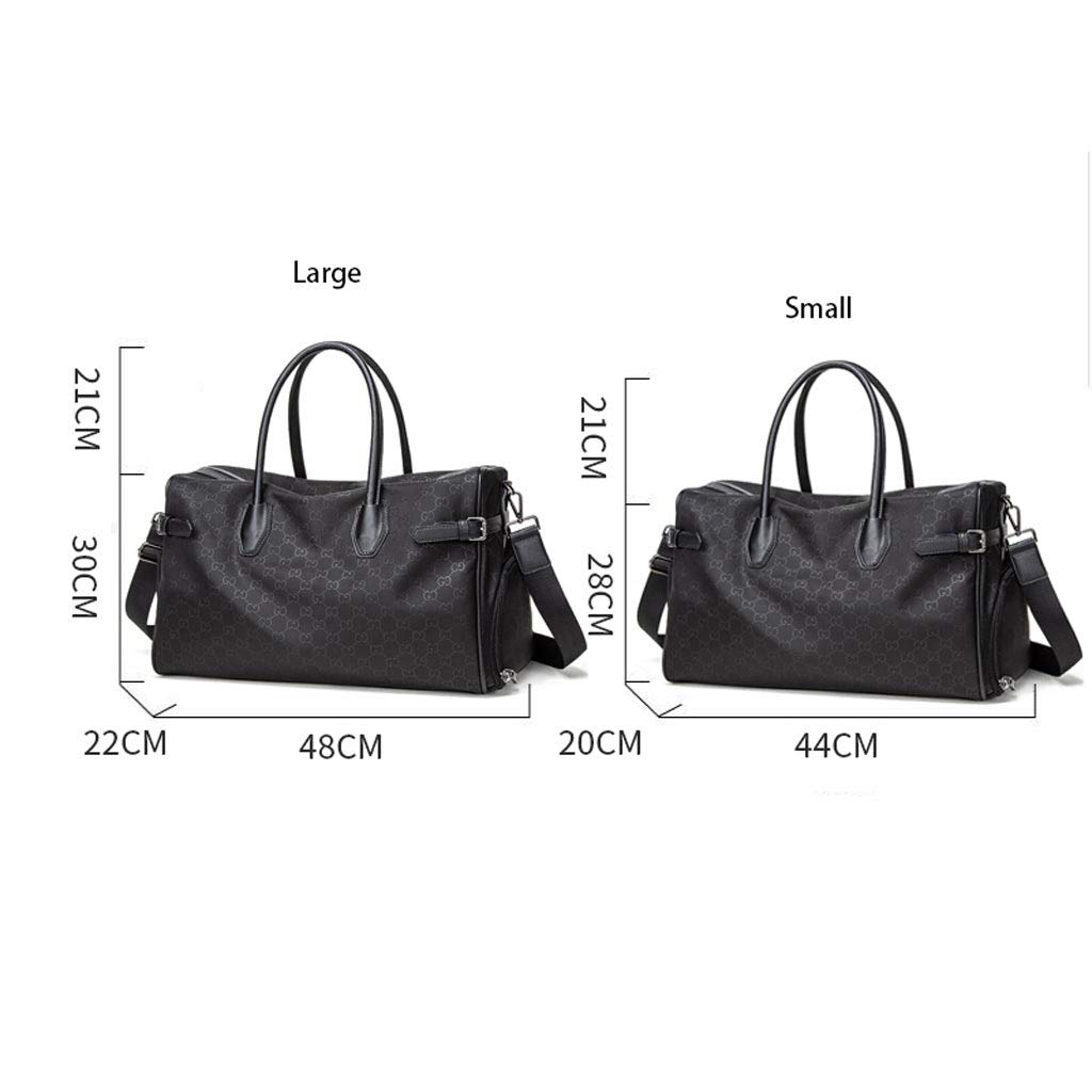 Short-Distance Bag Travel Bag ZFF-lvxingbao Travel Bag Light Boarding Bag Color : Black, Size : 442820cm Large-Capacity Mens Travel Bag