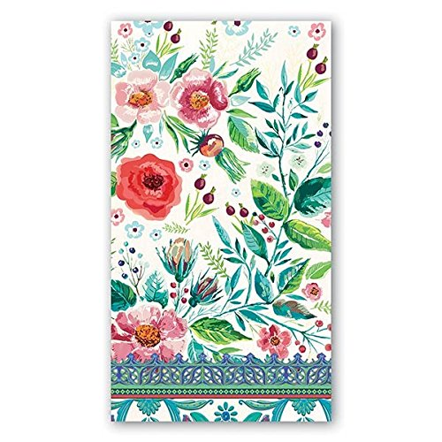 Michel Design Works 15 Count 3-Ply Paper Hostess Napkins, Wild Berry Blossom