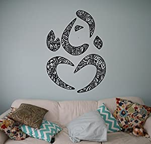 Hindu God Ganesha Wall Decal Namaste Om Vinyl Sticker Hinduism Home  Interior Yoga Living Room Decor Door Stickers Om Housewares Asia India  Indian Design ...