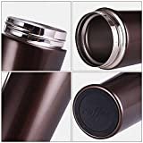 Ieasycan Mini Stainless Steel Thermos Double Wall Vacuum Insulated Water Bottle Mug Cup For Travel Outdoor Camping Hiking Cycling