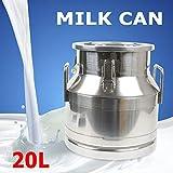 20 Liter 5.25 Gallon Stainless Steel Milk Can
