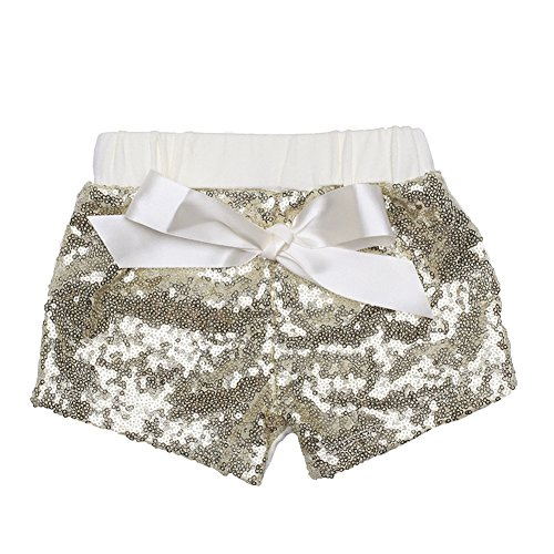 a6af82e53 Code Baby Girls Shorts Toddlers Short Kids Shorts Sequin Pants with Bow