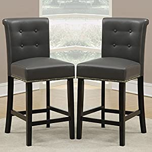 Counter Height Nailhead Chairs : ... Dining High Counter Height Chair Bar Stool 24