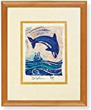 Leaping Dolphin Block Framed Print offers