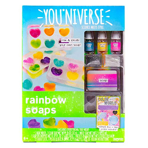 Youniverse Mix & Create Your Own Rainbow Soaps Craft Kit, Assorted/Multicolor