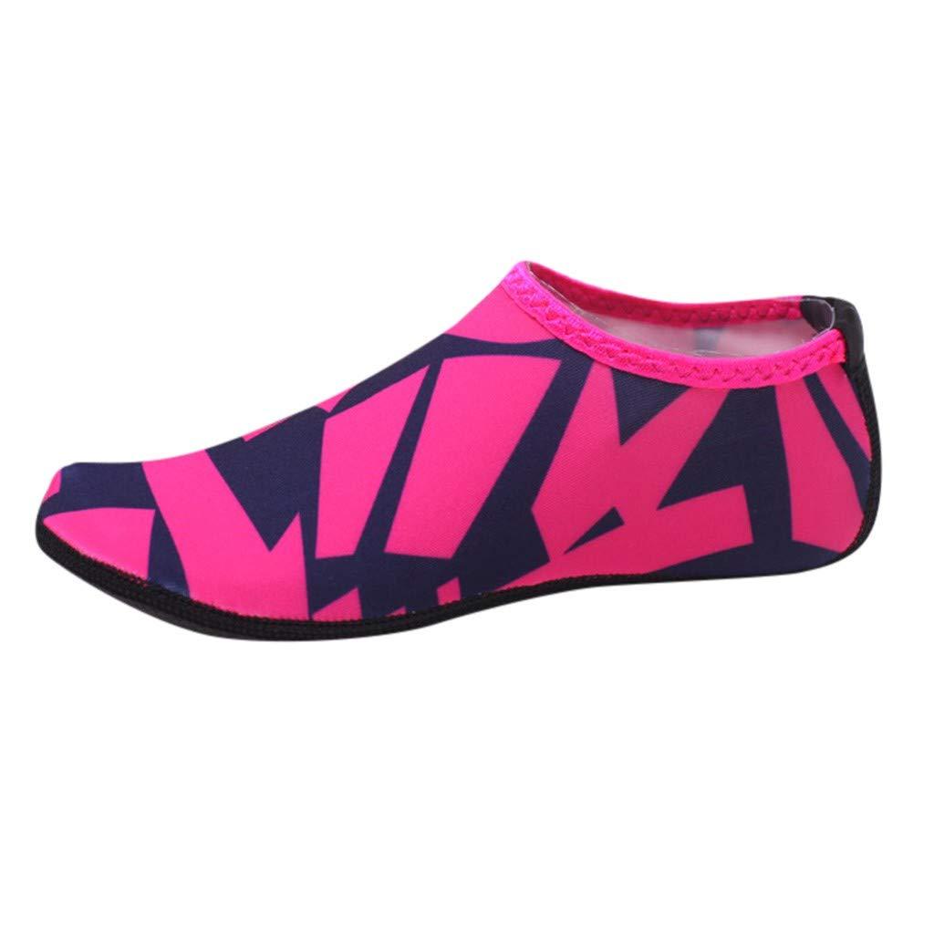 Sunnywill Chaussures d'eau de Plage, Chaussures de Plongée Unisexes, Pieds Nus, Yoga