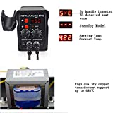 Picture of Rework Soldering Station, SMD Digital Display Soldering Iron and Hot Air Desoldering Gun Welding 2 in 1 Rework Station Kit with Heating Core Replacement,700W 480℃