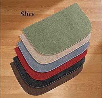 18 x 28 Berber High Traffic Nonslip Slice Home Kitchen Accent Slip Resistant Mat Rug (black) knl store