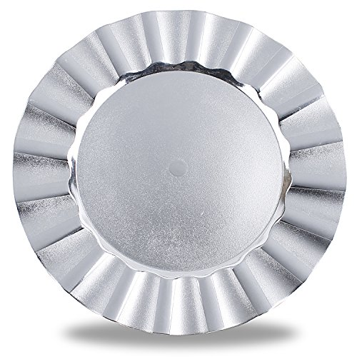 Wave Edge Silver Electroplate Finish Charger Plates - Fabulous silver wavey edge design charger plates add another layer of deminsion to your tablesetting! | christmastablescapedecor.com/elegant-silver-table-setting/