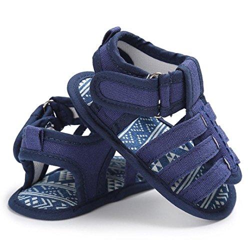 Igemy 1 Paar Baby Kleinkind Comfort Loafers Soft Schuhe Dunkelblau