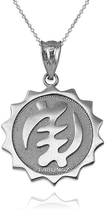 beaded necklace women Black Sandalwood Necklace with Silver /'Gye Nyame/' Pendant Adinkra symbol men gift for him wood necklace