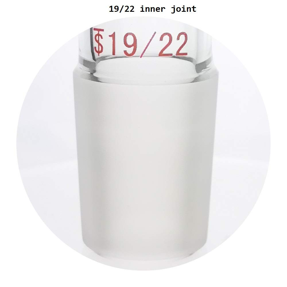 Laboy Glass Straight Connect Adapter 30mm Between 19//22 Outer /& Inner Joints Laboratory Glassware