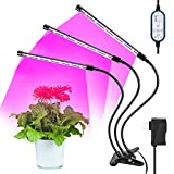 Grow Light for Indoor Plants Plant light Plant Grow Lamp Plant Growing Lights LED Plant Grow with Auto Turn On/Off Function 36w 8 Dimmable Levels Memory Timing IP44 Waterproof Adjustable 360 Degree Flexible for Indoor Plants (2018 Newest)