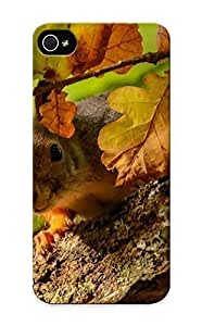 Defender Case With Nice Appearance (squirrel On The Oak Tree) Case For Iphone 5/5S Cover / Gift For New Year's Day