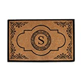 A1 Home Collections PT4007S First Impression Hand Crafted Abrilina Entry Monogrammed Doormat, Double, 30'' L x 48'' W