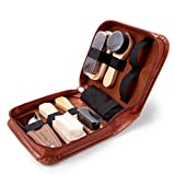 GAINWELL Shoe Care Sets with PU Leather Case