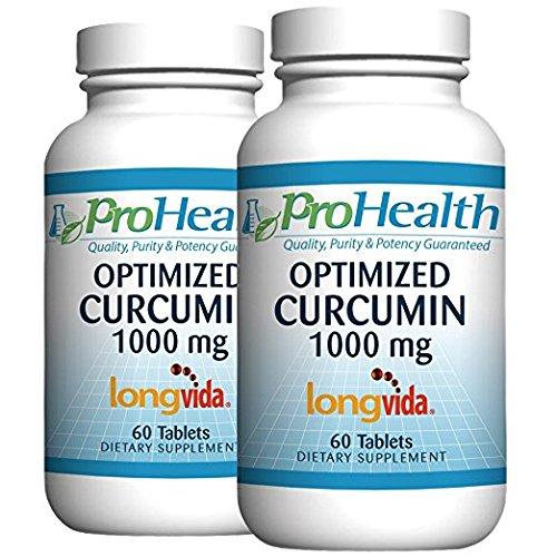 ProHealth Optimized Curcumin Longvida 2-Pack (1000 mg, 60 tablets)