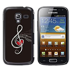 A-type Arte & diseño plástico duro Fundas Cover Cubre Hard Case Cover para Samsung Galaxy Ace 2 (Nota de la música abstracta)