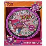 "Dreamworks Trolls 8"" Musical Wall Clock Featuring Poppy"