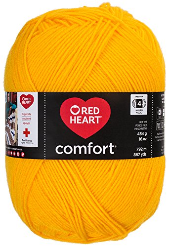 Red Heart Comfort Yarn, Bright - Knitting Yarn Heart Yellow