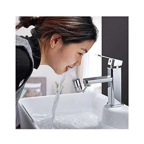 720 Degree Swivel Sink Faucet Aerator Large Flow Aerator Dual Function Kitchen Faucet Aerator Rotatable Bubbler Tap Aerator Sprayer Attachment for Kitchen Bathroom BiuBuy (Silver 1PC)