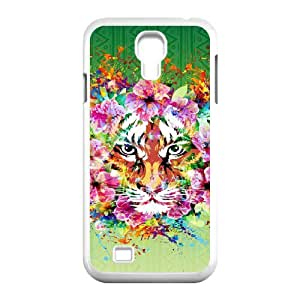 SamSung Galaxy S4 I9500 Fierce tiger Phone Back Case Custom Art Print Design Hard Shell Protection DF078129