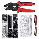 Crimping Tool Kit, Preciva Dupont Ratcheting Crimper Plier Set with 1550pcs 2.54mm Dupont Connectors and 460pcs 2.54mm JST-XH Connectors for AWG 26-18(0.1-1mm²)