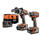 Ridgid ZRR9205 GEN5X Brushless 18-Volt Compact Hammer Drill/Driver and 3-Speed Impact Driver Combo Kit (Renewed)