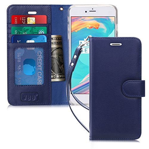 iPhone 6S Plus Case, iPhone 6 Plus Case, FYY [Kickstand Feature] Flip Folio Genuine Leather Wallet Case with ID and Credit Card Pockets for Apple iPhone 6/6S Plus (5.5
