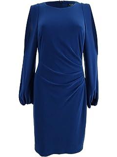 7c514deea3f Lauren by Ralph Lauren Women s Jersey Cold-Shoulder Sheath Dress (16