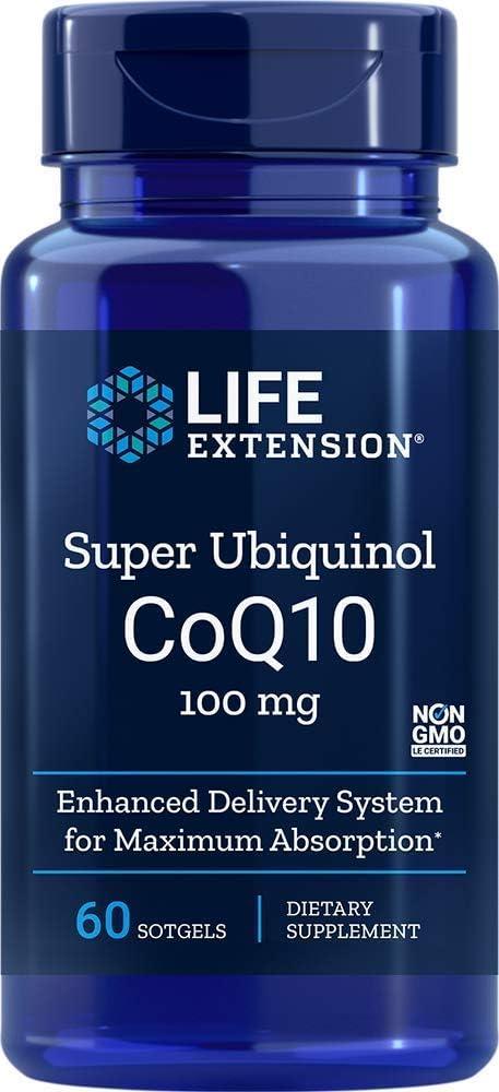 Super Ubiquinol CoQ10 100mg (60 softgels) Life Extension