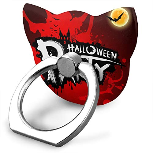 (Halloween Party Red Blood Car Bracket Cat Shape Cell Phone Stand/Ring and Finger Grip Holder for Smartphones and)