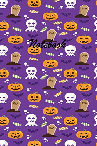Halloween Table Topics (Notebook: These Halloween beautiful 6 x 9 Composition Notebook 190-page Journal books are lined to standard wide-ruled margins with a table of ... of each topic.Candy Pumpkin Halloween Book)