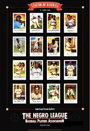 Negro League Baseball Legends by Lewis Art Print Poster