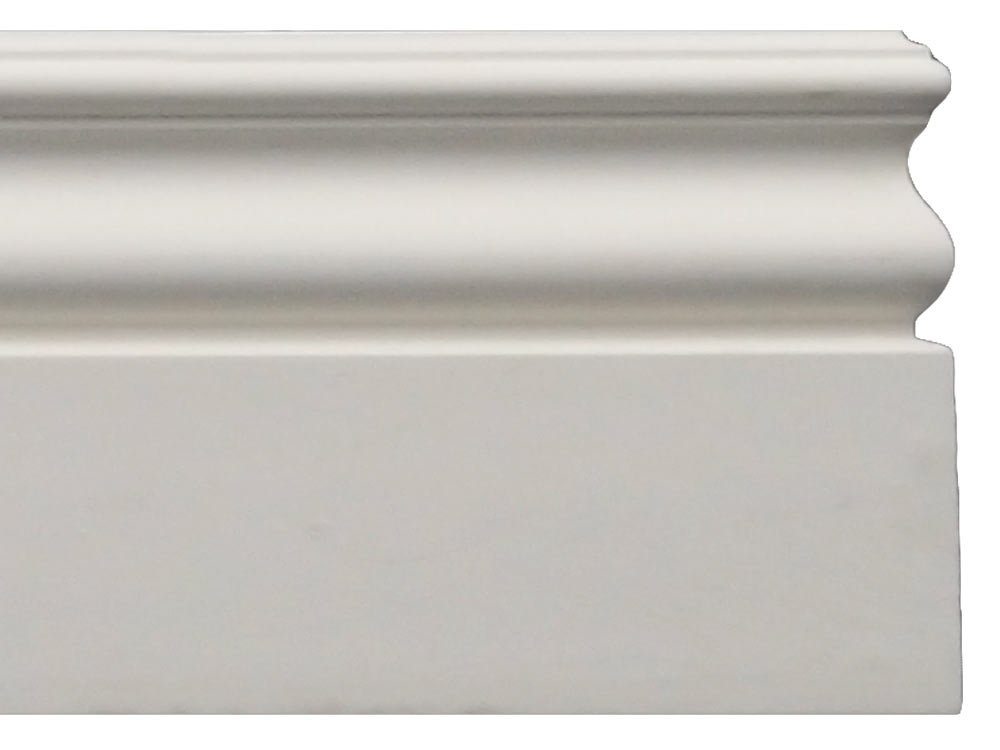 Baseboard Molding - Height: 4-3/4'' Width: 1/2'', 48 ft Total Length (6 Moldings) by DreamWallDecor
