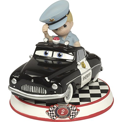 Precious Moments Sheriff, Resin Figurine, Cars 2, 164432 Showcase Disney Pixar Collection, Multicolor