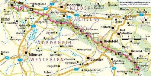 hermannsweg karte Hermannsweg, Rheine   Leopoldstal: Leporello Wanderkarte mit