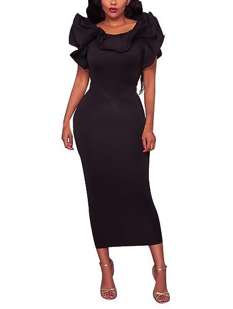 Vestidos Mujer Vestidos De Fiesta Largos De Noche Elegantes Volantes Mangas Slim Fit Dresses Fiesta Disfraz