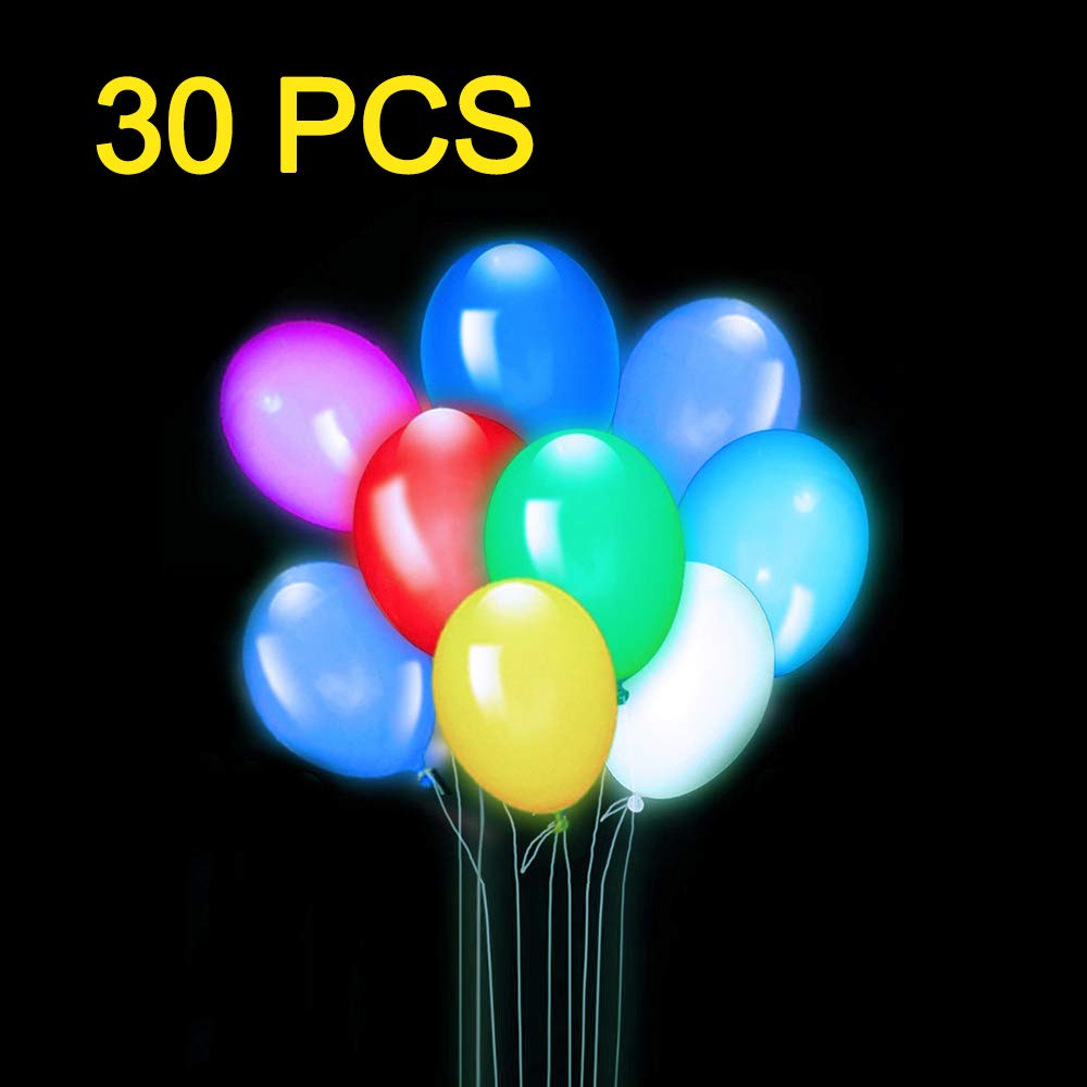 LifBetter 30 PCS LED Light Up Balloons, 3 Modes Flashing Glow Party Supplies Perfect for Wedding Birthday Festive Party Decoration